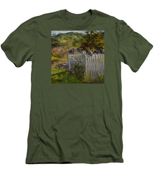 Hey Look Here Men's T-Shirt (Slim Fit) by Jane Thorpe