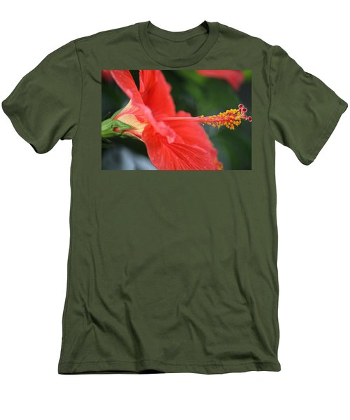 Hibiscus Closeup Men's T-Shirt (Athletic Fit)