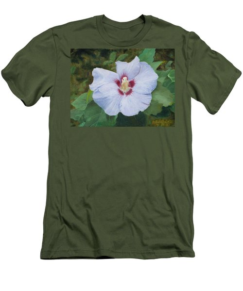 Men's T-Shirt (Slim Fit) featuring the painting Hibiscus by Joshua Martin