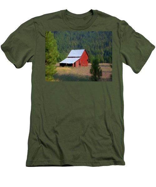 Men's T-Shirt (Slim Fit) featuring the painting Hidden Away P D P by David Dehner