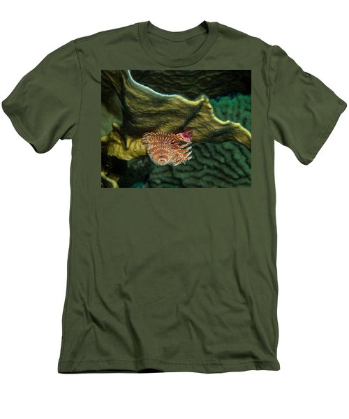 Men's T-Shirt (Slim Fit) featuring the photograph Hidden Christmastree Worm by Jean Noren