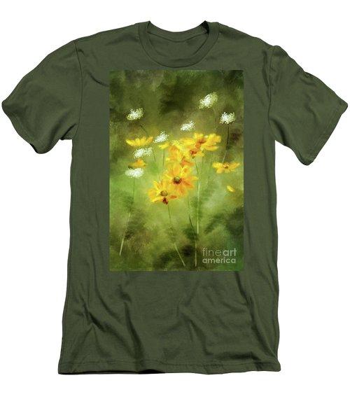 Men's T-Shirt (Slim Fit) featuring the digital art Hidden Gems by Lois Bryan
