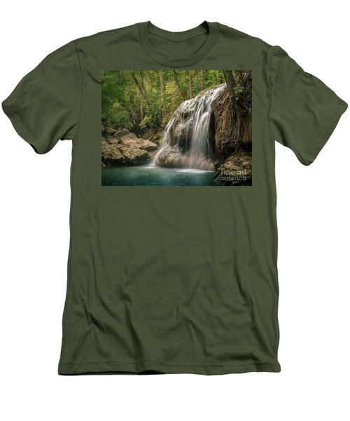 Men's T-Shirt (Slim Fit) featuring the photograph Hidden In The Jungle Of Guatemala by Jola Martysz