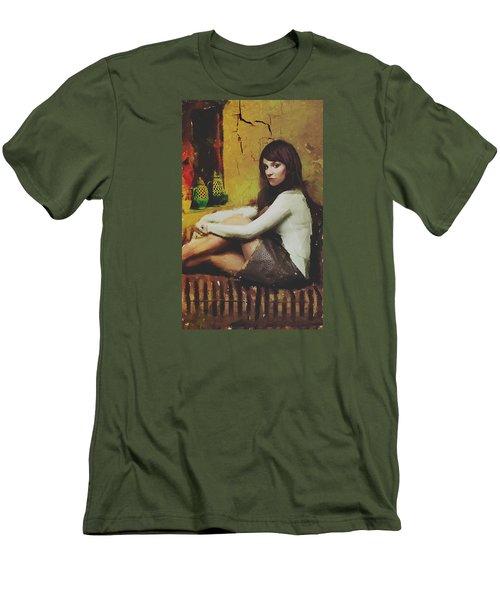 Hideaway Men's T-Shirt (Slim Fit) by Galen Valle