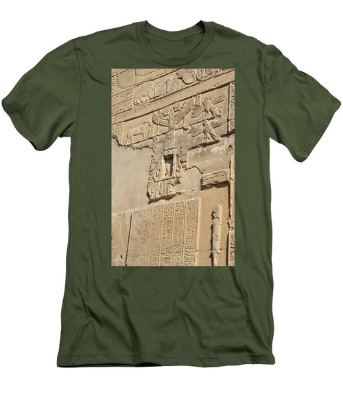 Men's T-Shirt (Athletic Fit) featuring the photograph Hieroglyphic by Silvia Bruno