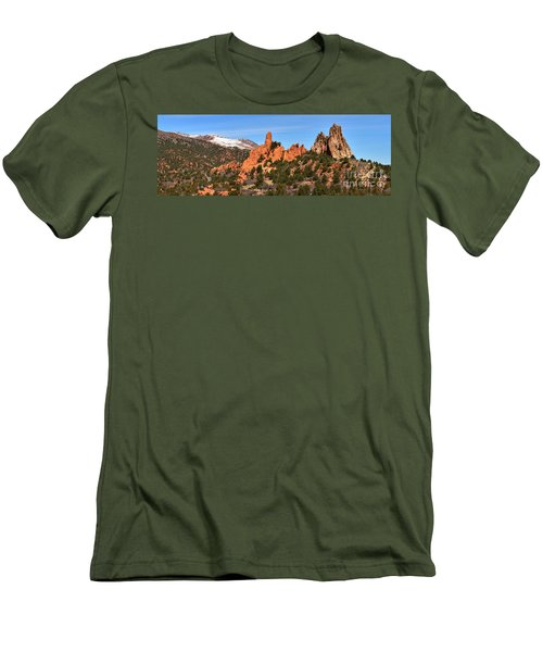 Men's T-Shirt (Slim Fit) featuring the photograph High Point View by Adam Jewell