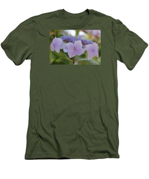 Highlands Hydrangea Men's T-Shirt (Slim Fit) by Amy Fearn
