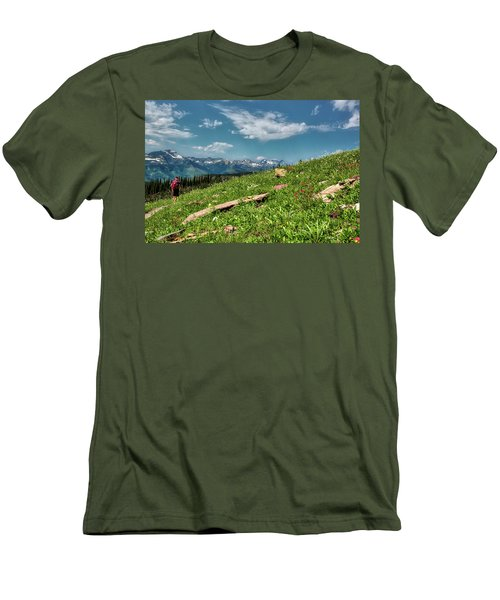 Highline Trail Adventure Men's T-Shirt (Athletic Fit)