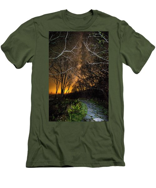 Hiking The Milky Way Men's T-Shirt (Athletic Fit)