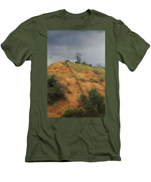 Hill Divided By Fence Men's T-Shirt (Athletic Fit)