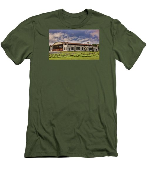 Men's T-Shirt (Slim Fit) featuring the photograph Historic Curtiss Wright Hanger by Steven Richardson