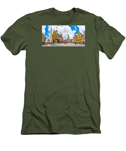 Historic Townsquare Of Rothenburg Ob Der Tauber, Franconia, Bava Men's T-Shirt (Athletic Fit)