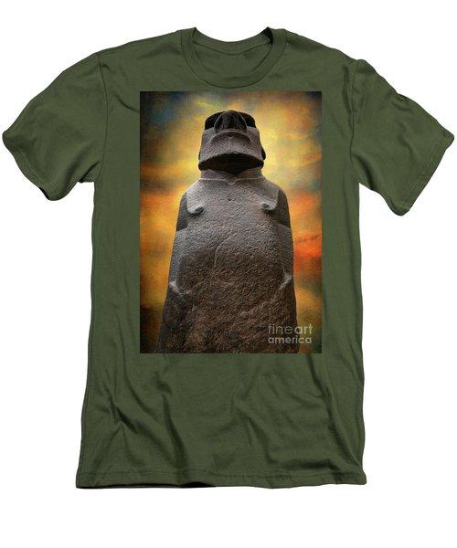 Men's T-Shirt (Slim Fit) featuring the photograph Hoa Hakananaia by Adrian Evans