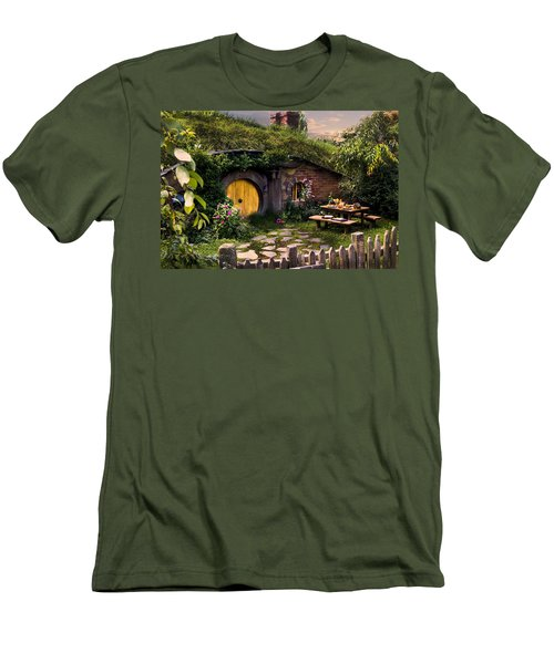 Hobbit Hole At Sunset Men's T-Shirt (Athletic Fit)