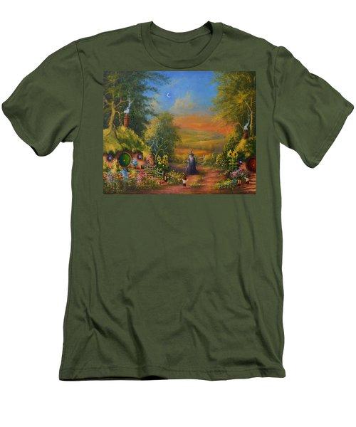 Hobbiton, Disturbing The Peace  Men's T-Shirt (Slim Fit) by Joe  Gilronan