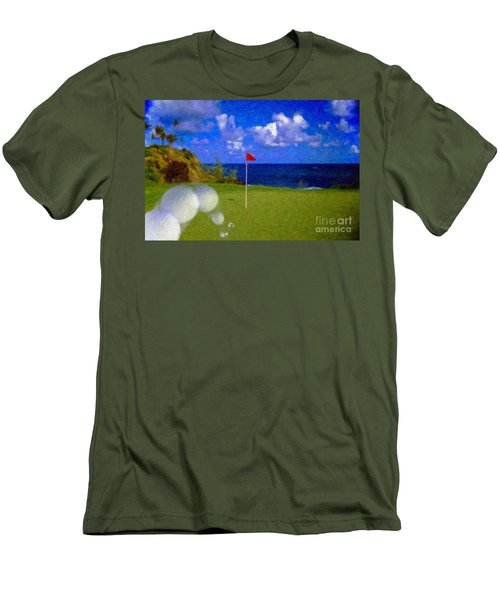 Men's T-Shirt (Slim Fit) featuring the photograph Fantastic 18th Green by David Zanzinger