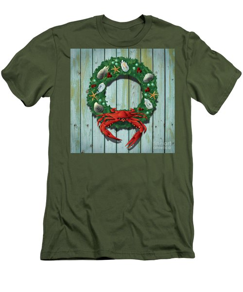 Holiday Crab Wreath Men's T-Shirt (Athletic Fit)