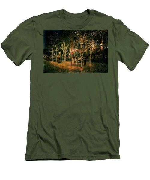 Men's T-Shirt (Slim Fit) featuring the photograph Holiday Handsome Cab by Kristal Kraft