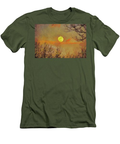 Men's T-Shirt (Slim Fit) featuring the mixed media Hollow's Eve by Trish Tritz