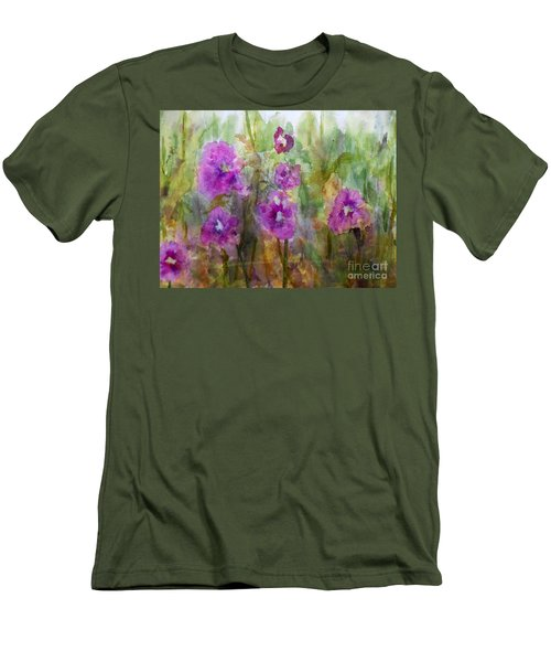 Hollyhocks Men's T-Shirt (Athletic Fit)