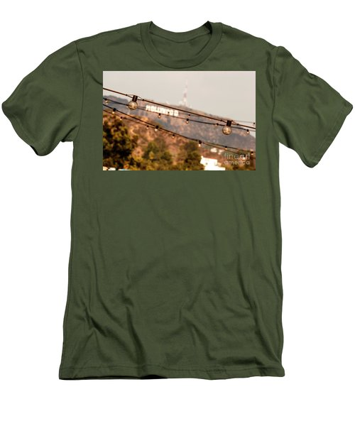 Men's T-Shirt (Slim Fit) featuring the photograph Hollywood Sign On The Hill 2 by Micah May
