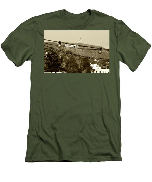 Men's T-Shirt (Slim Fit) featuring the photograph Hollywood Sign On The Hill 4 by Micah May