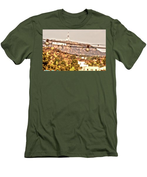 Men's T-Shirt (Slim Fit) featuring the photograph Hollywood Sign On The Hill 6 by Micah May