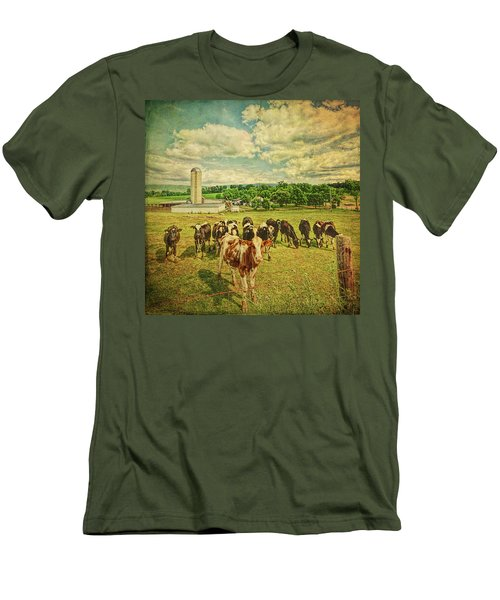 Men's T-Shirt (Athletic Fit) featuring the photograph Holy Cows by Lewis Mann