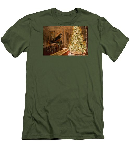 Home For Christmas Men's T-Shirt (Slim Fit) by Cathy Jourdan