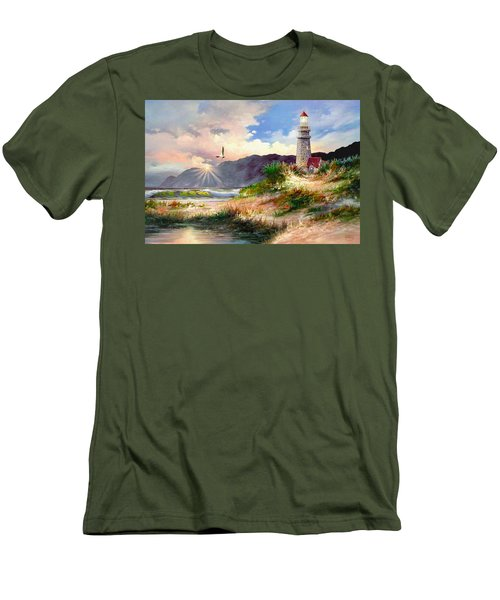 Home For The Night Men's T-Shirt (Slim Fit) by Ron Chambers