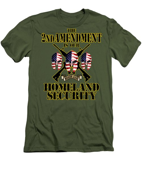 Men's T-Shirt (Slim Fit) featuring the tapestry - textile Homeland Security by Don Olea