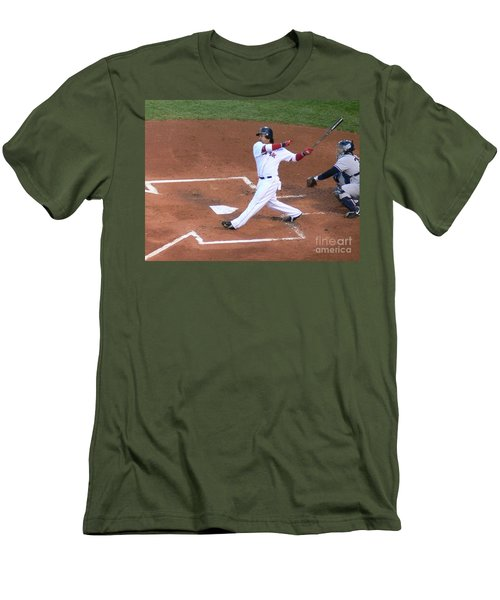 Homerun Swing Men's T-Shirt (Slim Fit) by Kevin Fortier