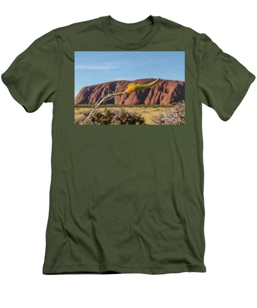 Men's T-Shirt (Athletic Fit) featuring the photograph Honey Grevillea 01 by Werner Padarin