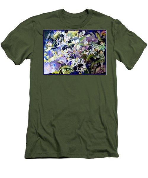 Honeysuckle Fairies Men's T-Shirt (Slim Fit) by Mindy Newman