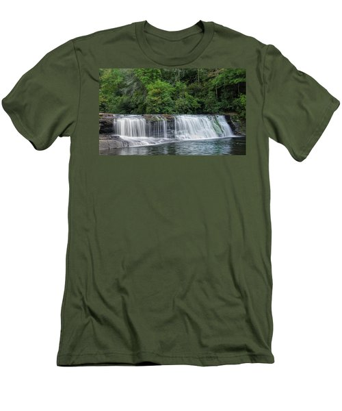 Men's T-Shirt (Slim Fit) featuring the photograph Hooker Falls by Steven Richardson