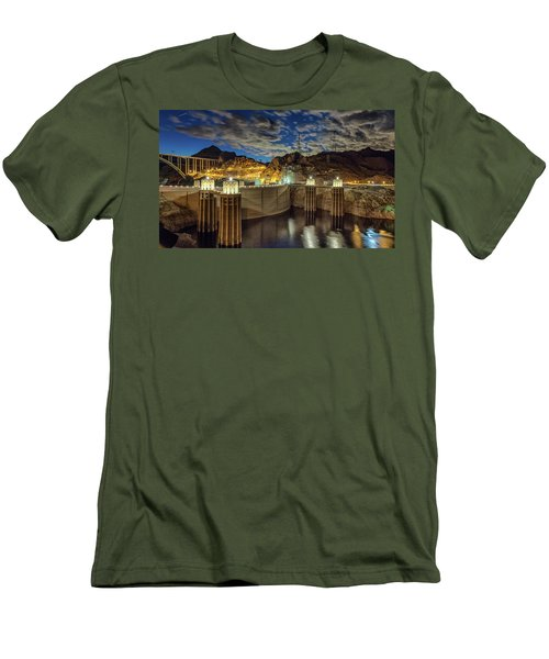 Hoover Dam Men's T-Shirt (Slim Fit) by Michael Rogers