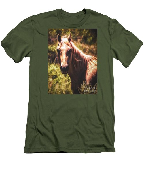 Horse  ... Men's T-Shirt (Slim Fit) by Chuck Caramella