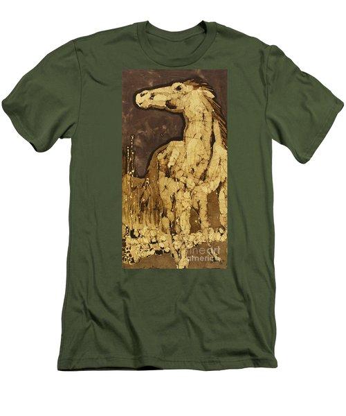 Horse Above Stones Men's T-Shirt (Slim Fit)