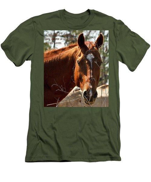 Horse Portrait Men's T-Shirt (Athletic Fit)