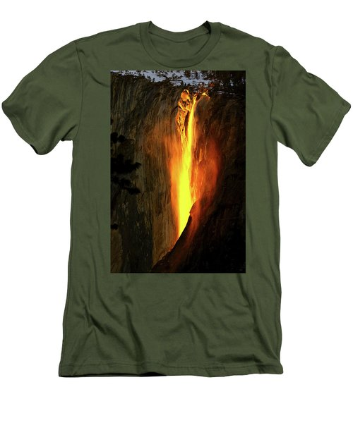 Horse Tail Fall Aglow Men's T-Shirt (Slim Fit) by Greg Norrell