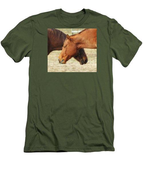 Horses In Sinc Men's T-Shirt (Slim Fit) by MTBobbins Photography