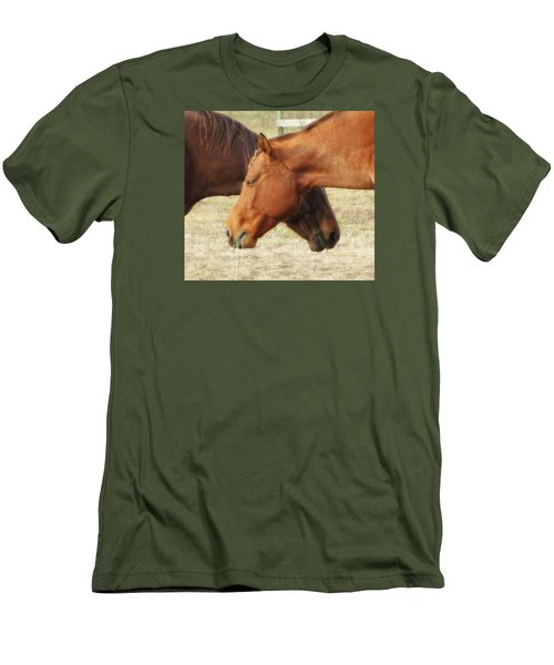 Horses In Sinc Men's T-Shirt (Athletic Fit)