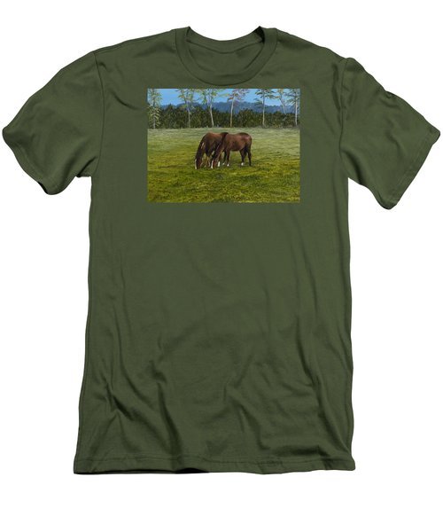 Horses Of Romance Men's T-Shirt (Athletic Fit)