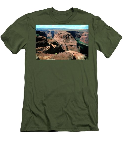 Horseshoe Bend Of The Colorado River Men's T-Shirt (Slim Fit) by Wernher Krutein
