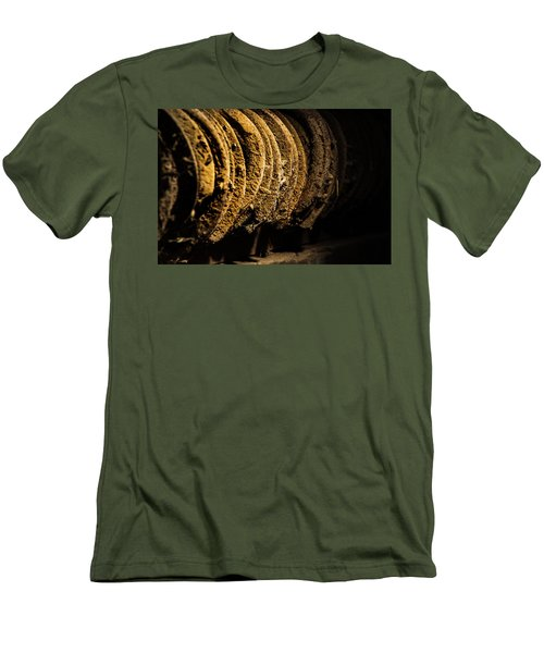 Men's T-Shirt (Slim Fit) featuring the photograph Horseshoes by Jay Stockhaus