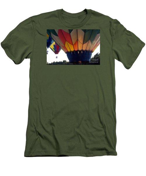 Hot Air Balloon Men's T-Shirt (Slim Fit) by Debra Crank