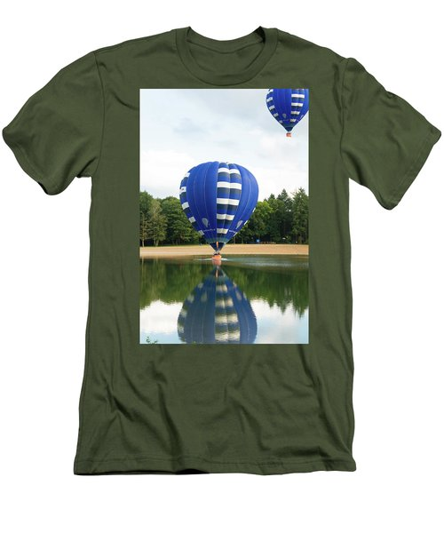Men's T-Shirt (Slim Fit) featuring the photograph Hot Air Balloon by Hans Engbers