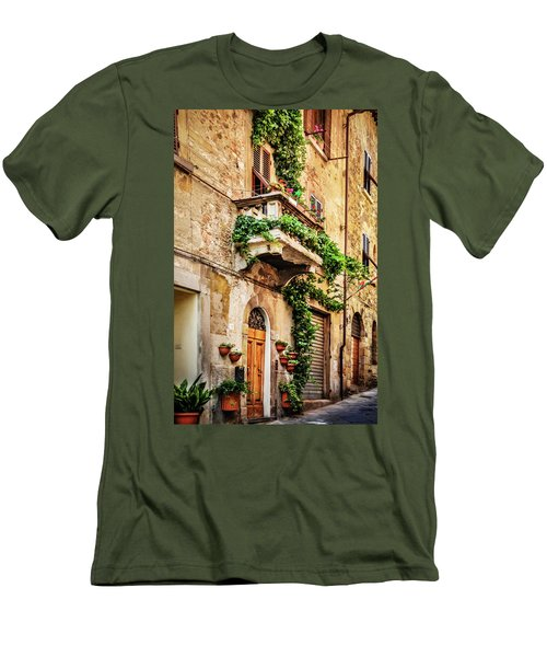 House In Arezzoo, Italy Men's T-Shirt (Slim Fit) by Marion McCristall