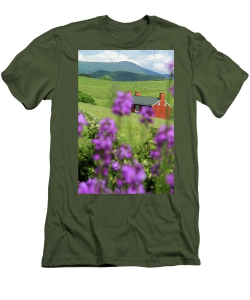 Men's T-Shirt (Slim Fit) featuring the photograph House On Virginia's Hills by Emanuel Tanjala