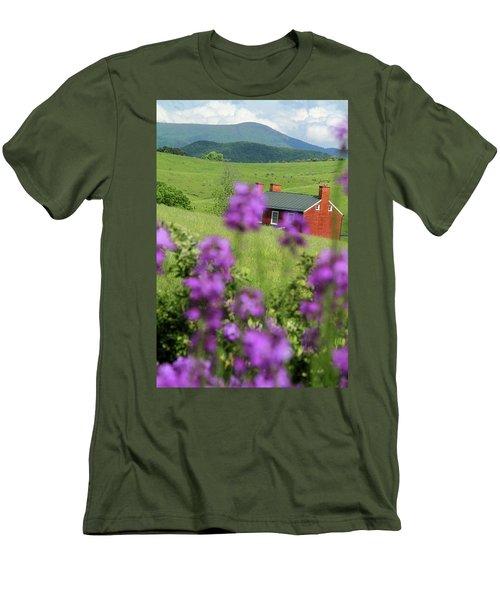 House On Virginia's Hills Men's T-Shirt (Slim Fit) by Emanuel Tanjala